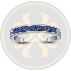 Round Sapphire 925 Sterling Silver Women's Wedding Adjustable Toe Ring #parasexports