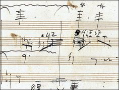 """This is interesting - A long-lost working manuscript of Beethoven's has been rediscovered in Pennsylvania. The piece, a """"Grosse Fuge"""", written late in Beethoven's life, apparently is a piano - four hands transcription of a finale for a string quartet. What is most interesting about the manuscript is the information it gives about Beethoven's compositional style:  Written in brown and black ink, sometimes over pencil and with later annotations in red crayon, the manuscript shows the extent of…"""