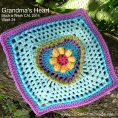 Block 24 of the Block a Week CAL is Grandma's Heart Square by Carola Wijma. This week's tutorial is a complete photo tutorial and chart (with permission).