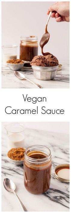 Vegan Caramel Sauce // Heart of a Baker