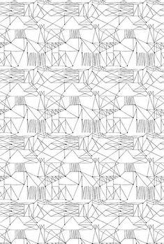 Quelques uns des motifs années 50 sélectionnés par la designer textile Lucienne Day