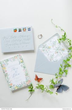Displaying quaint antiques amidst an array of citrus-coloured florals, paid tribute to the couple's late loved ones. Heirlooms took centre stage at this chicago rehearsal dinner Wedding Stationery Inspiration, Wedding Inspiration, Wedding Ideas, Blue Envelopes, Cocktail Attire, Let Your Hair Down, Planner, Wedding Website, Rehearsal Dinners