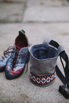 DIY Chalk Bag by Delightfully Tacky, via Flickr