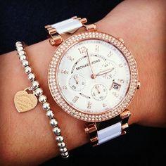 Michael Kors Watch + Tiffany & Co. Bracelet <3 LOVE