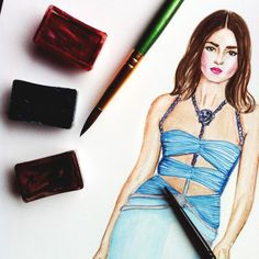 Versace look #dollmemories #model #fashion #andreeadiaconu #fashionillustrations