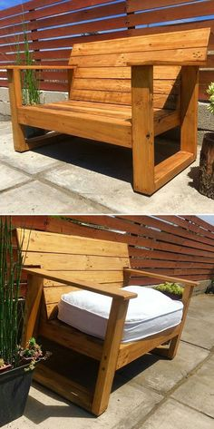 41 Creative Ways to Upcycle Indoor and Outdoor Pallet Projects Pallet outdoor bench ideas The post 41 Creative Ways to Upcycle Indoor and Outdoor Pallet Projects appeared first on Pallet Ideas. Pallet Bench, Wooden Pallet Furniture, Woodworking Furniture, Rustic Furniture, Diy Furniture, Outdoor Furniture, Outdoor Pallet Projects, Pallet Home Decor, Pallet Ideas Easy