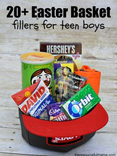 Baseball themed easter basket and diy washcloth bunny easter teen boy easter basket and 20 ways to fill it negle Gallery