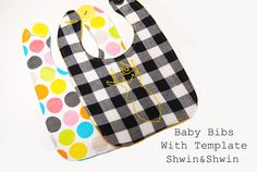 Shwin&Shwin: Baby Bibs {Free Pattern}.  Fastened with a button.  Why didn't I think of that?