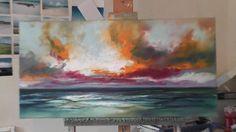 Speed Painting: Landscape Painting Demo- 'Ocean Blue'