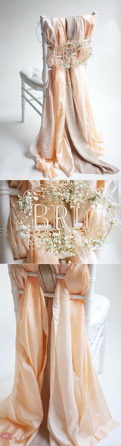 Romantic silk diy wedding chair decorations