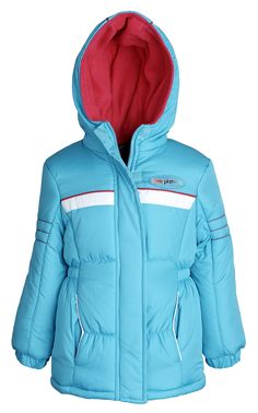 Pink Platinum Baby Girls Fleece Lined Down Alternative Puffer Winter Jacket - Turquoise (24M). Elastic side waisted for the right fit. Horizontal handwarmer pockets. Thick Fleece Lining including Hood. All over padding for utmost warmth. Machine wash cold.