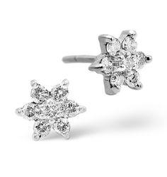 0.30ct White Gold Diamond Cluster Earrings. #thediamondstoreuk #jewellery #christmas #gift