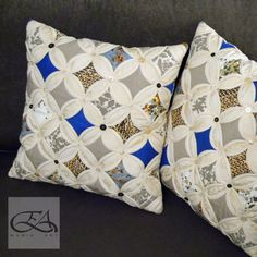 """Great interior decorative pillows handmade. Made in the technique of patchwork """"stained window"""". Natural materials. Decorative buttons."""