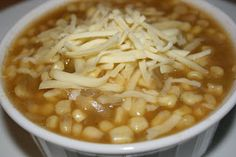 my go-to crockpot white bean chili recipe.  changes I make: halve it, add a chicken breast (then shred it & stir before serving) for protein. serve with plain greek yogurt & shredded mozzarella cheese.  i love it!
