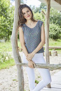 Gehäkeltes Damen-Shirt, S9918 | Schachenmayr