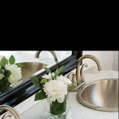 What a lovely morning that starts with a rose. Thompson traders copper bathroom sink.