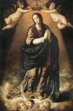 PEREDA, Antonio de The Immaculate one Concepcion Toward the middle of the 17th century Spain oil painting art