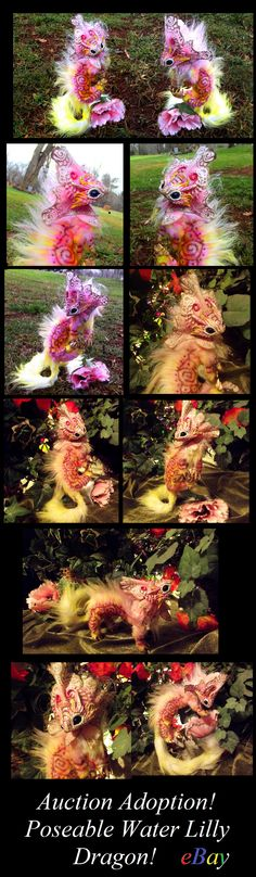 --SOLD-- Poseable Water Lilly Dragon by *Wood-Splitter-Lee on deviantART