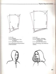 Barbie Cape With Hood Sewing And Pattern Free Cloak Pattern Sewing Hacks, Sewing Tutorials, Sewing Crafts, Sewing Projects, Diy Crafts, Techniques Couture, Sewing Techniques, Pattern Cutting, Pattern Making