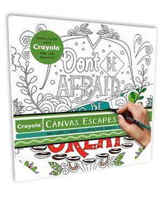 Loving this 'Don't Be Afraid to Be Great' Color-In Canvas Art on #zulily! #zulilyfinds