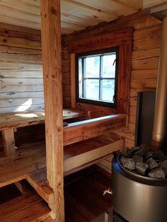 Building A Sauna, Sauna Design, Finnish Sauna, Chalet Design, Saunas, Home And Living, Entryway Tables, Shed, Woodworking