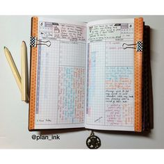 Day on one page layout for midori traveler's notebook in regular size.