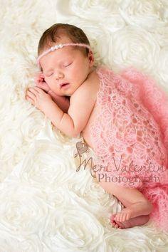 Crochet lacy luxury newborn baby mohair wrap  by FreshOffTheeHook, $30.00