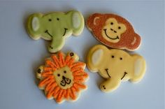 Adorable animal cookies by SugarChic