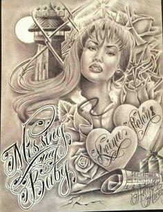 Prison Drawings, Chicano Drawings, Chicano Tattoos, Gangster Tattoos, Diablo Tattoo, Cholo Art, Prison Art, Street Tattoo, Lowrider Art