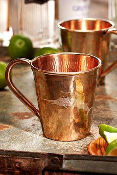 Tommy Bahama - Copper Mule Mug Copper Cups, Copper Moscow Mule Mugs, Copper Bar, Copper Kitchen, Copper And Brass, Hammered Copper, Moscow Mule Cups, Rose Gold Theme, Copper Utensils
