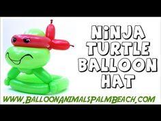 How To Make A Ninja Turtle Hat Balloon - Balloon Animals Palm Beach - YouTube
