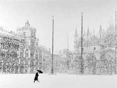 Bruno Rosso - Neve a Venezia -1951