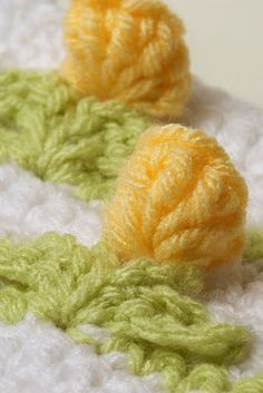 Tiny tulips crochet.