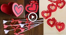 3 Simple & Beautiful Valentines Day Crafts – Paper Crafts – DIY Crafts Compilations – Arts And Crafts – All DIY Projects Valentines Day Cards Handmade, Valentines Day Decorations, Valentines For Kids, Diy Valentine, Craft Stick Crafts, Diy Crafts For Kids, Craft Party, Craft Kids, Paper Roses Tutorial