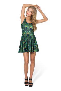 Peacock Scoop Skater Dress by Black Milk Clothing $85AUD
