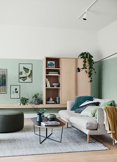 With society's growing emphasis on wellbeing, the Dulux Summer 2020 colour predictions see a return to calm, natural tones that speak of . My Living Room, Living Room Decor, Light Green Walls, Decoration Ikea, Kid Decor, Sofa Upholstery, Home Interior, Interiores Design, Cheap Home Decor
