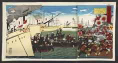The Japanese naval attack on Weihaiwei.