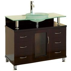 Charlton 36 Inch Bathroom Vanity with Drawers - Espresso w/ Clear or Frosted Glass Counter by Modern, http://www.amazon.com/dp/B002NVEQM2/ref=cm_sw_r_pi_dp_7Ifmqb03GQTKP