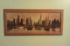 Ozz Franca Art Print City Harbor by vintagemodernmom on Etsy, $50.00