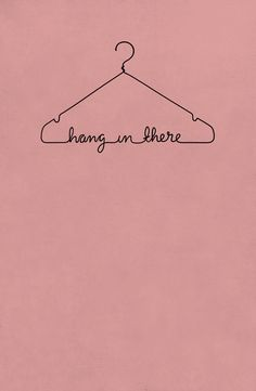 Hang In There - pink Art Print by Drivis | Society6
