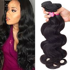 Brazilian Virgin Human Hair Bundles Body Wave Unprocessed Hair Extensions Natural Color Unprocessed Hair Weave Can Be Dyed and Bleached: Weave Hairstyles, Straight Hairstyles, Cool Hairstyles, 2 Hair Color, Silk Hair, Hair Quality, Remy Hair Extensions, Body Wave Hair, Remy Human Hair