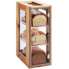 Cal-Mil Madera 3 Tier Reclaimed Wood Bread Display Case - 13 inch x 8 inch x 20 inch