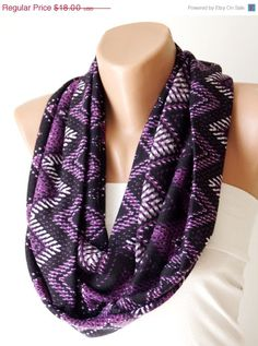 ON SALE Chevron Scarf. Loop Scarf .Cowl Scarf. Circle by Periay, $10.00
