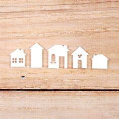 Acrylic Houses - white  from Elle's Studio
