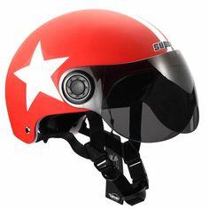New Motorcycle Half Open Face Helmet Modular Motorcycle Helmets, Dirt Bike Helmets, Red Motorcycle, Motocross Helmets, Mountain Bike Helmets, Riding Helmets, Cycling Helmet, Bicycle Helmet, Agv Helmets