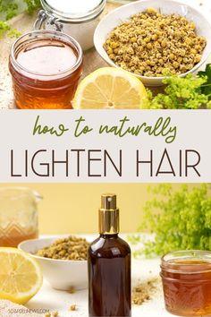 DIY Hair Lightener Spray Recipe Plus How To Lighten Hair Naturally