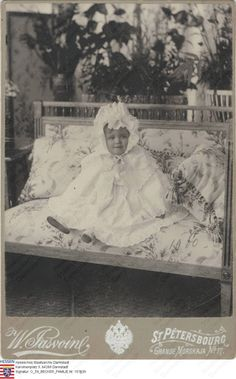 """otmacamera: """"Grand Duchess Maria Nikolaevna in 1900. Better quality of a well known photo of little Maria :) """""""