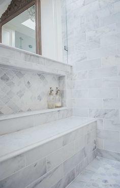 Master Bathroom Shower, Zen Bathroom, Shower Niche, Bathroom Layout, Bathroom Interior Design, Bathroom Storage, Bathroom Ideas, Bathroom Organization, Master Bathrooms