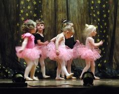 Reminds me of our baby ballerinas:)
