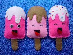 ijsjes van vilt